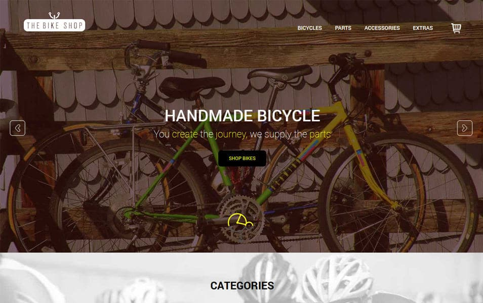 Bike Shop HTML Template