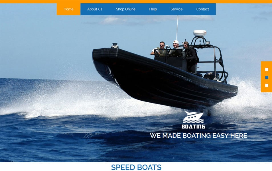 Boating HTML Template