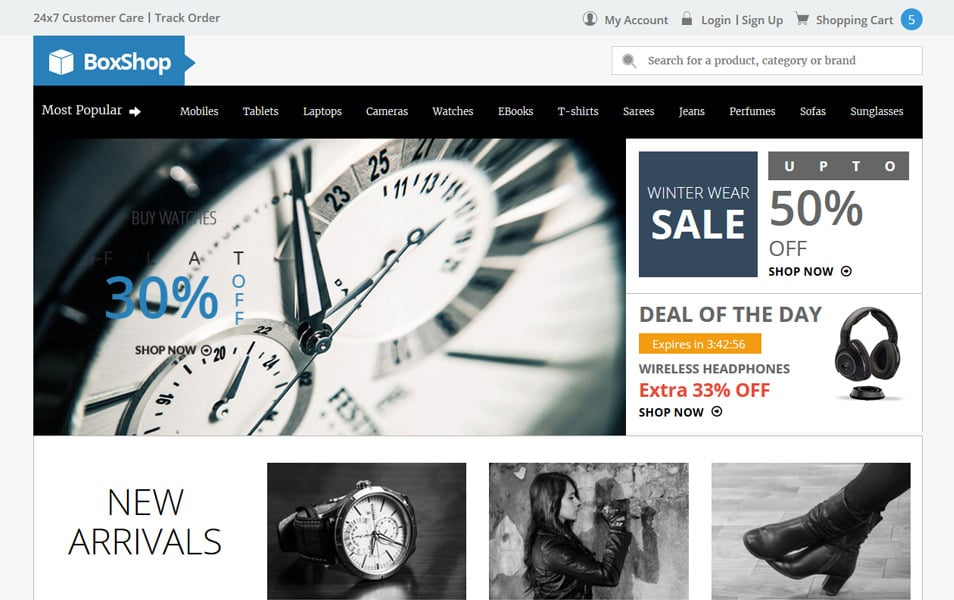 Box Shop HTML Template