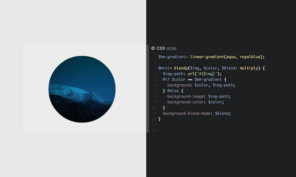 CSS Blend Modes with Sass