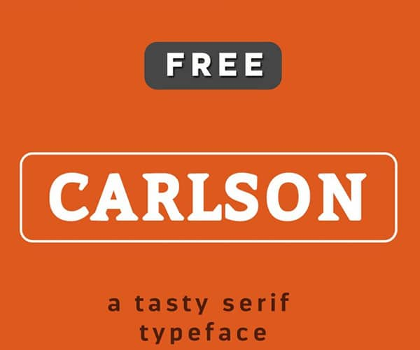 Carlson Free Font