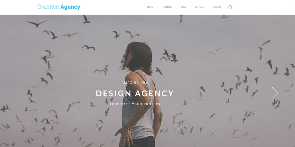 Creative Agency One Page Web Template PSD