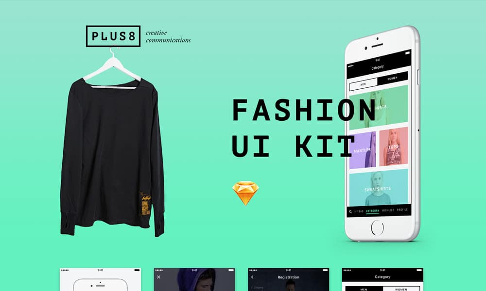 Fashion UI Kit For Sketch
