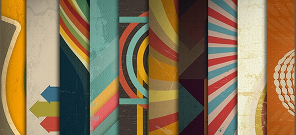 Free Retro Backgrounds PSD
