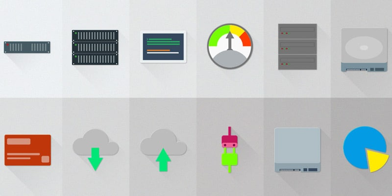 Free Server/Hosting Material Design Icons