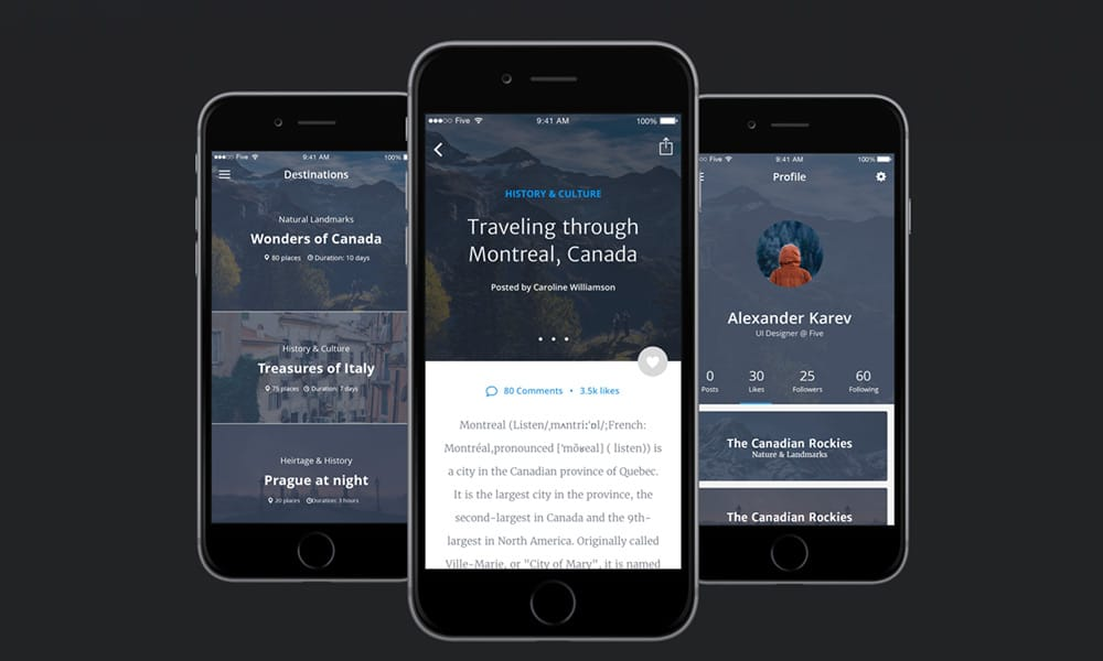 Free UI kit for Travel Apps