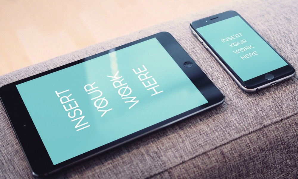 Free iPad and iPhone Photorealistic Mockup PSD