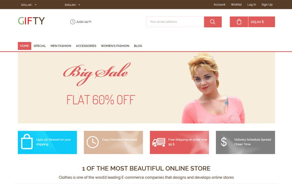 Gifty HTML Template