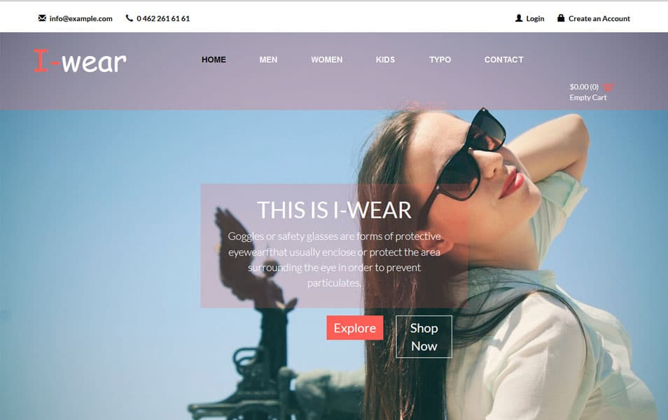 I Wear Ecommerce Bootstrap Responsive Web Template