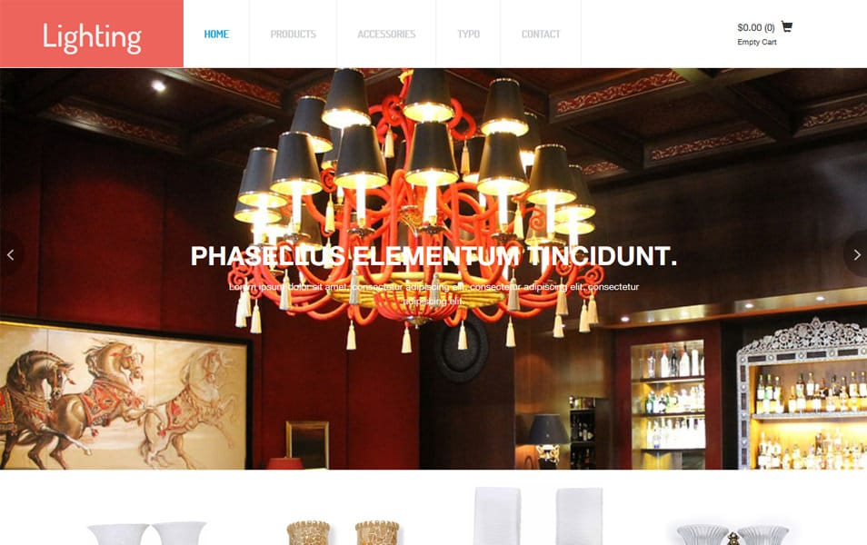 Lighting Responsive eCommerce Template