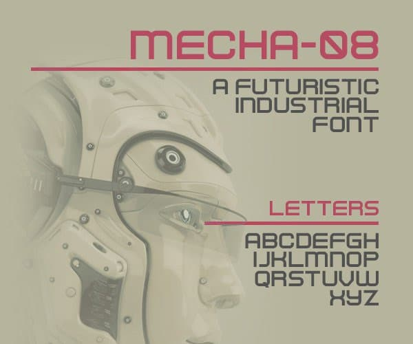 Mecha 08 Free Font