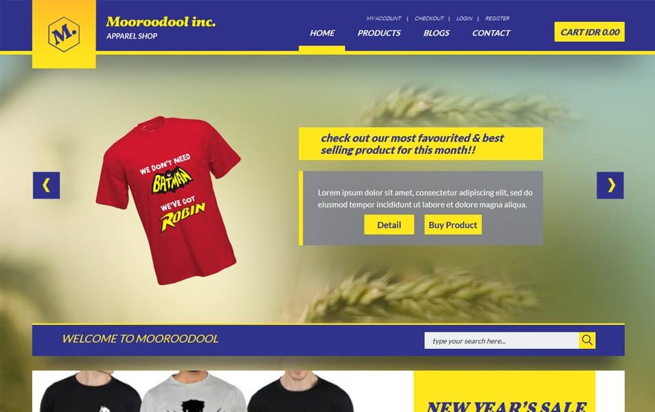 Mooroodool HTML Template