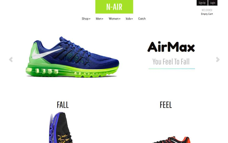 N Air - Bootstrap eCommerce Template