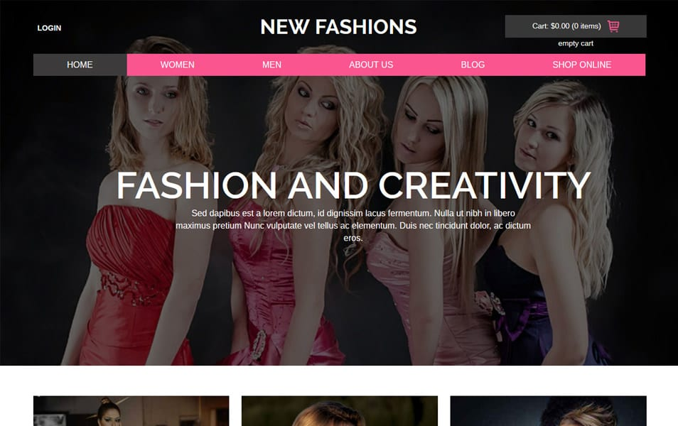 New Fashions HTML Template