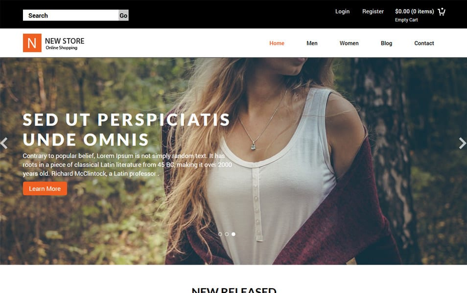 New Store HTML Template
