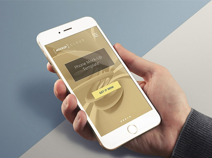 Real Photo iPhone Mockup PSD