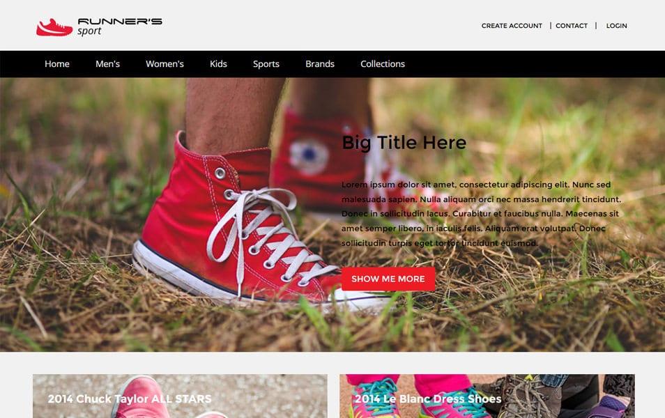 Runner Sport HTML Template