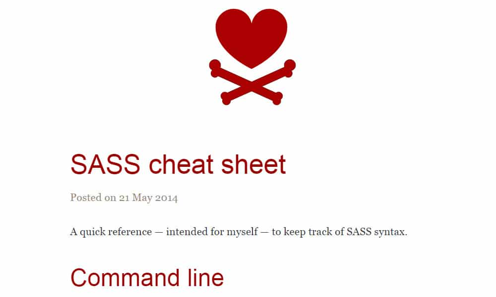 SASS Cheat Sheet