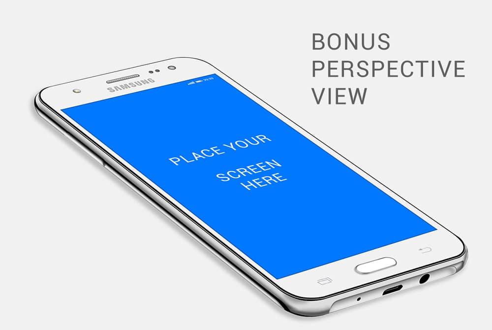 Samsung Galaxy J5 Mockup PSD