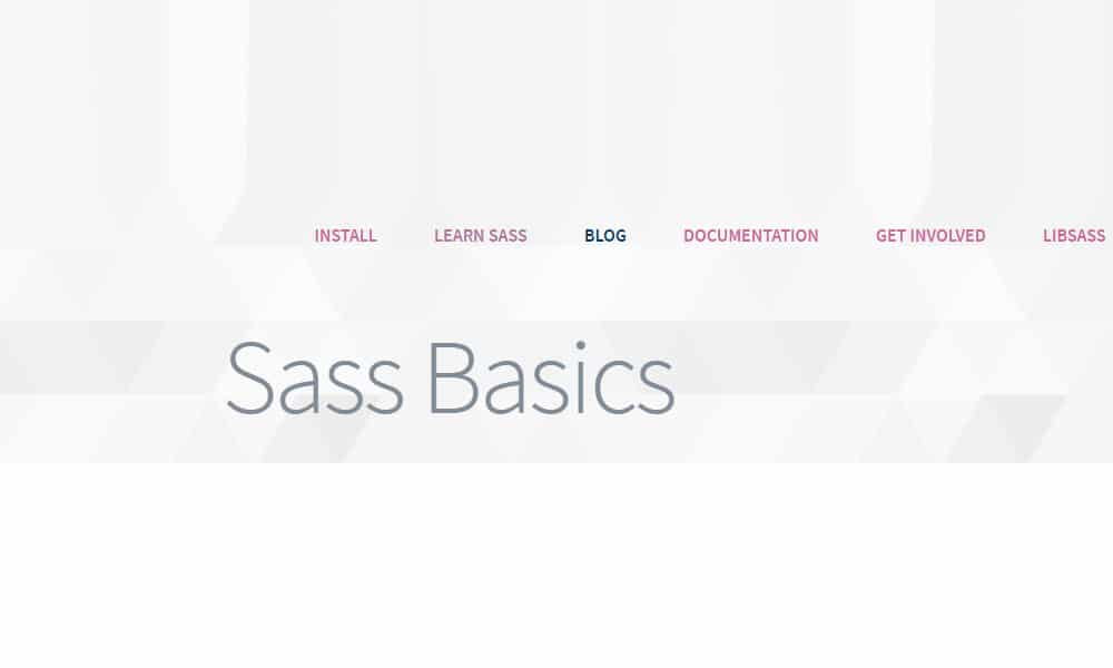 Sass Basics