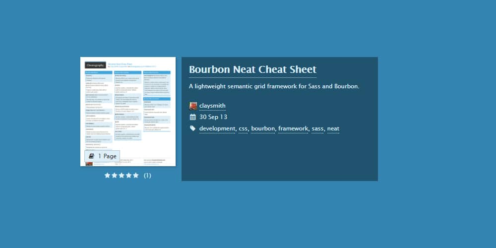 Sass Cheat Sheets