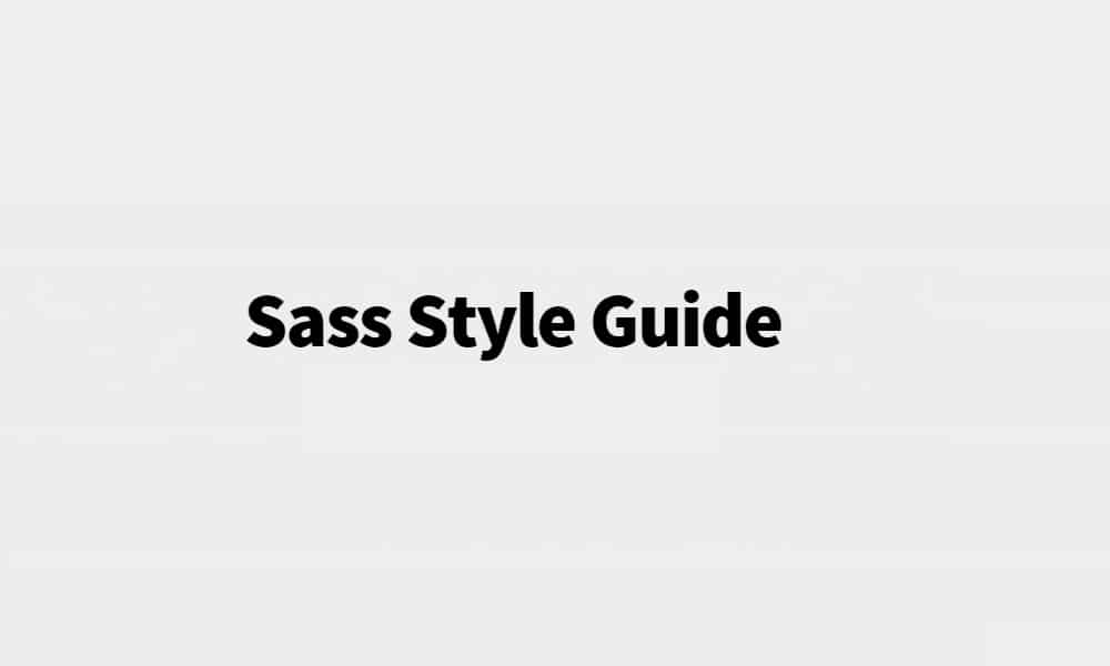 Sass Style Guide