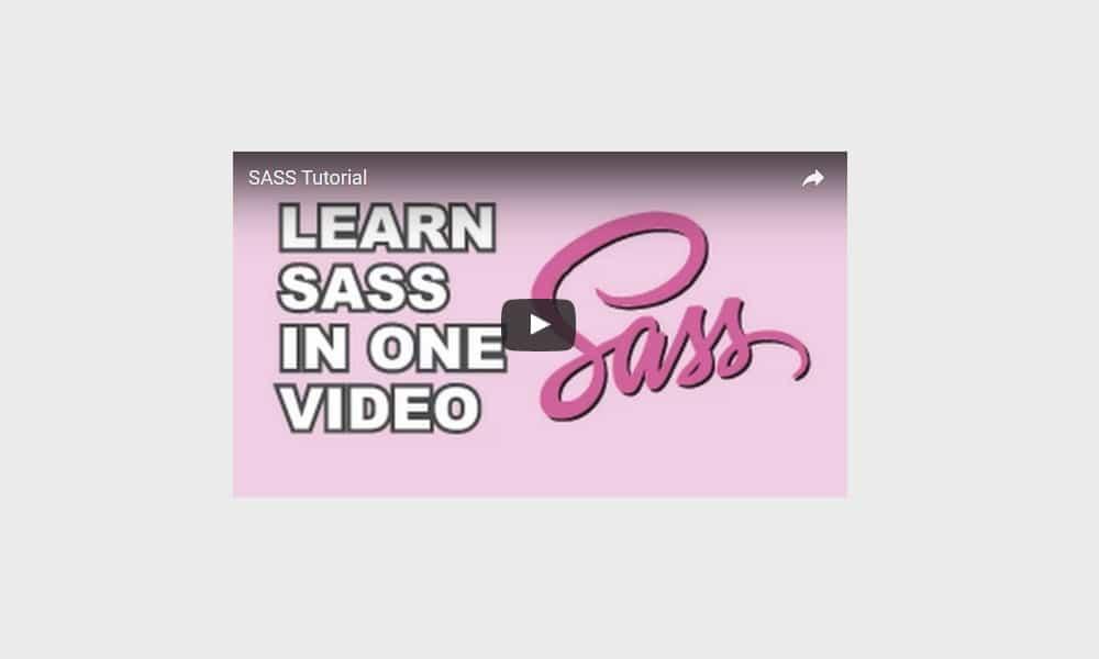 Sass Video Tutorial