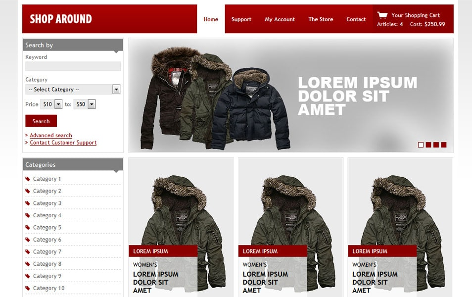 Shop Around HTML Template