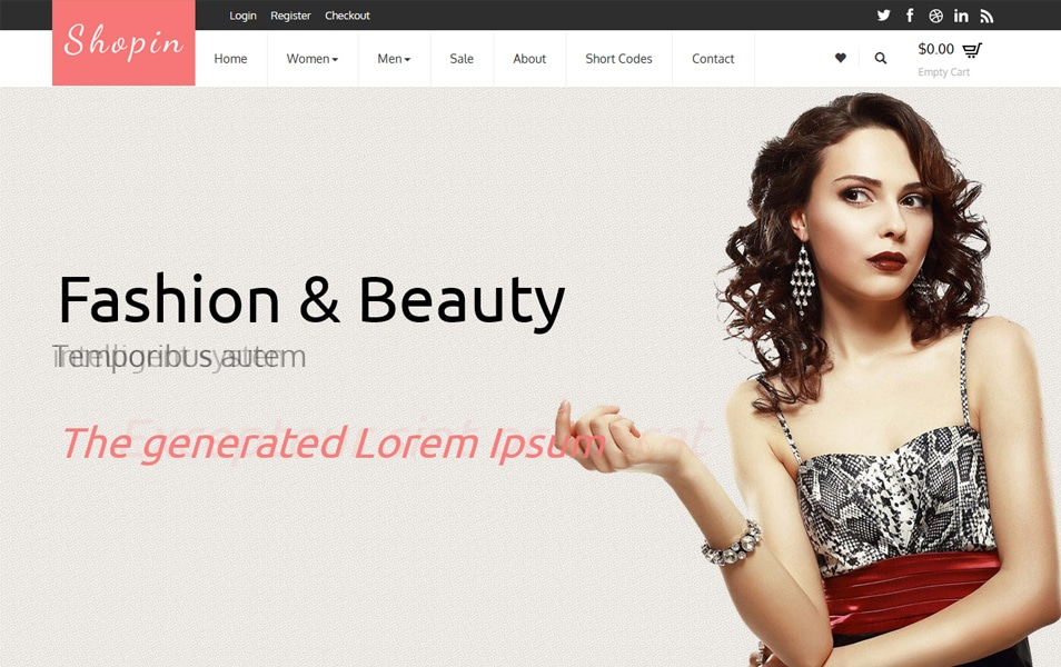 Shopin - Flat Ecommerce Bootstrap Template