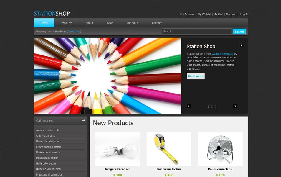 50 free responsive html5 e commerce website templates station shop is an ecommerce template in html css that can be adapted and used for any kind of online store cms product detail shopping cart and checkout pronofoot35fo Gallery