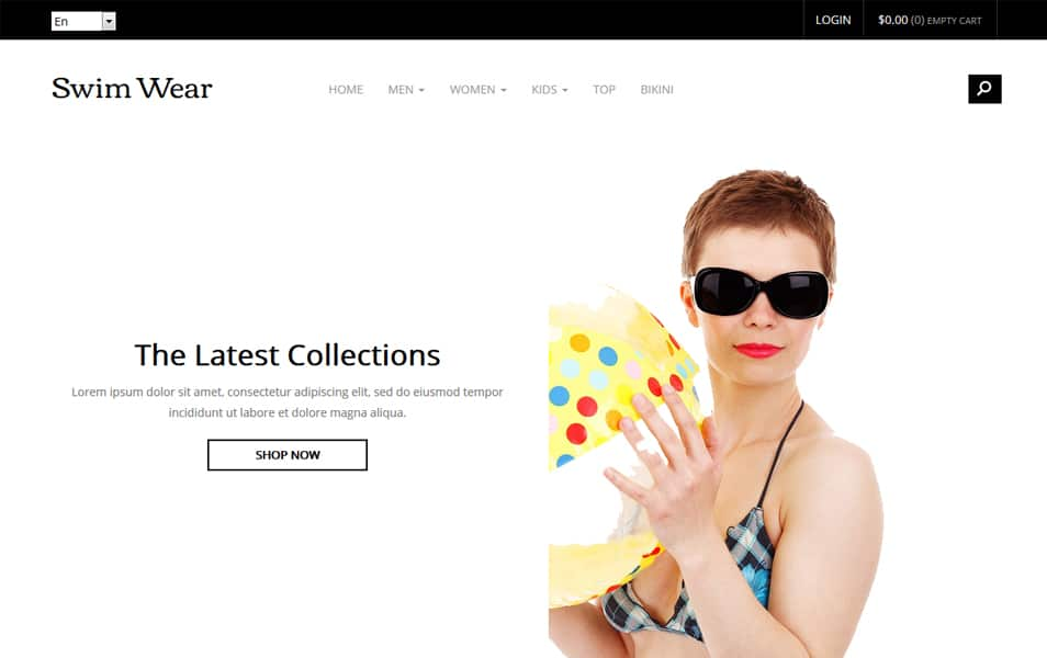Swim Wear – Bootstrap eCommerce Template