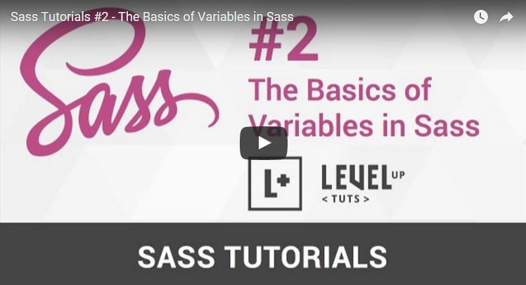 The Basics of Variables in Sass