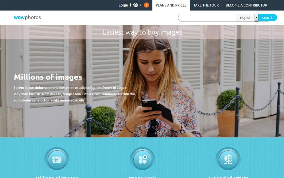 Wow Photos HTML Template