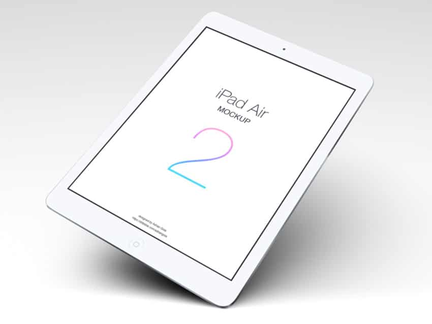 iPad Air 2 Mockup PSD