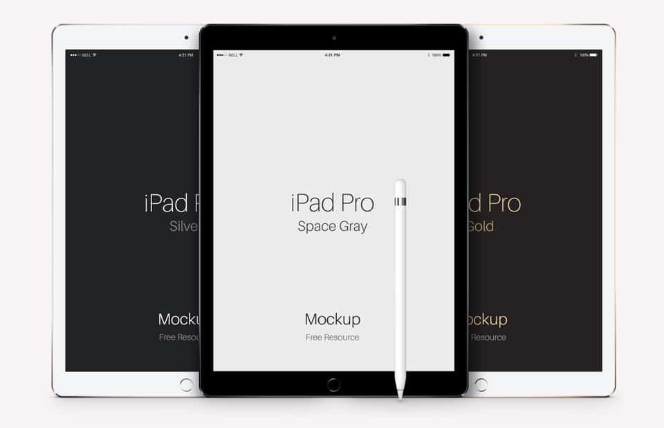 iPad Pro Vector Mockup PSD