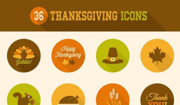 36 Thanksgiving Icons