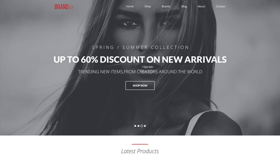 Brandly - Free One Page Web Template PSD