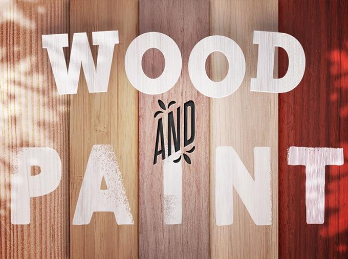 چوب بست، رنگ بافت رایگان