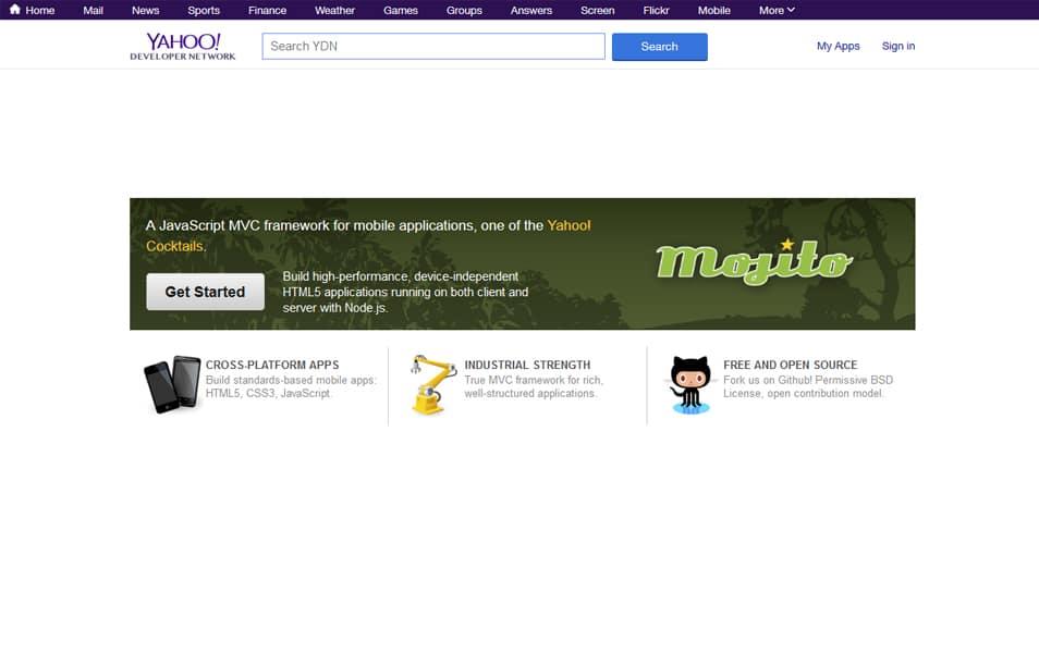 Yahoo Mojito Framework