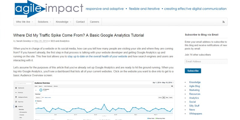 Basic Google Analytics Tutorial