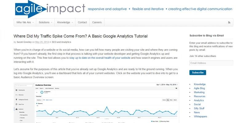 Basic Google Analytics Tutorial