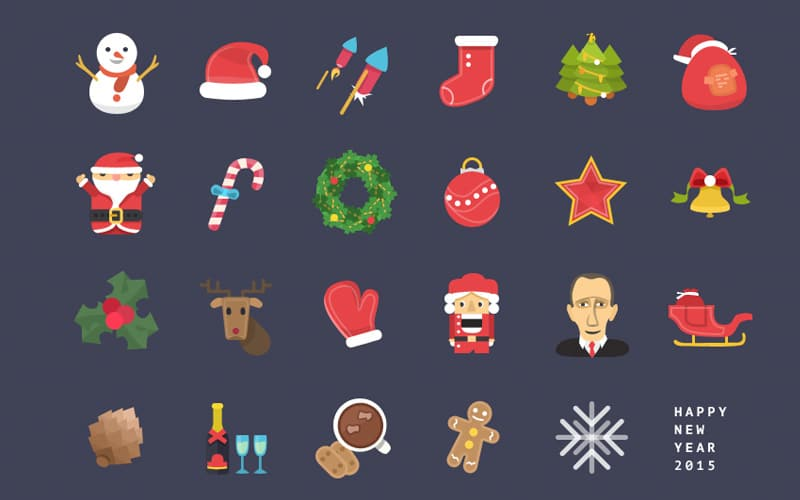 Christmas & New Year Free Icons PSD