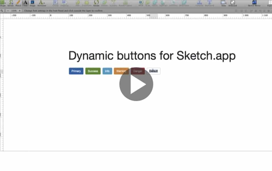 Dynamic button plugin for Sketch.app