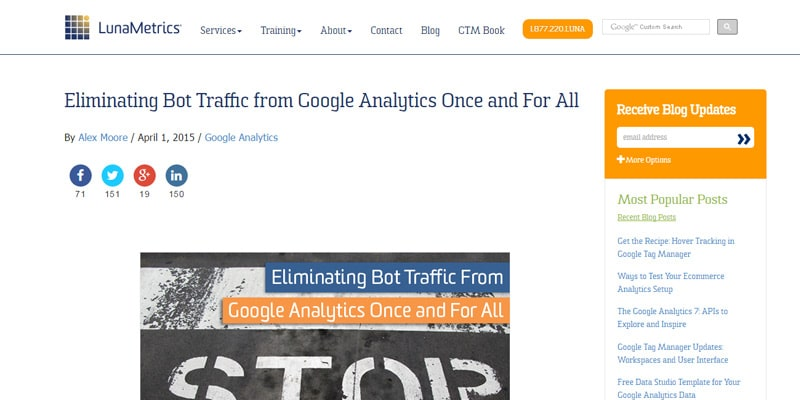Eliminating Bot Traffic from Google Analytics Once and For All