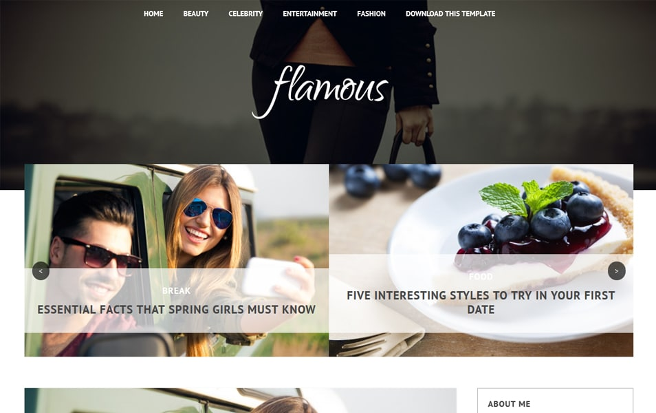 Flamous Responsive Blogger Template