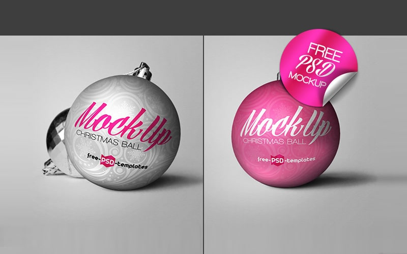 Free Christmas Ball Mock-up PSD