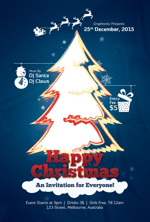 Free Flyers PSD for Merry Christmas