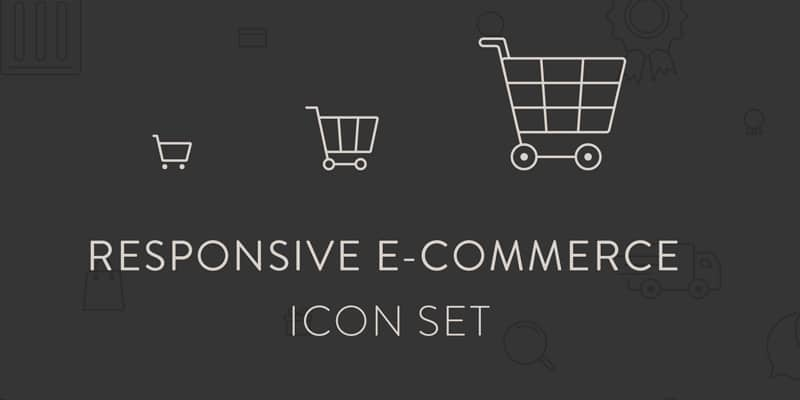 Free Responsive E commerce Icons