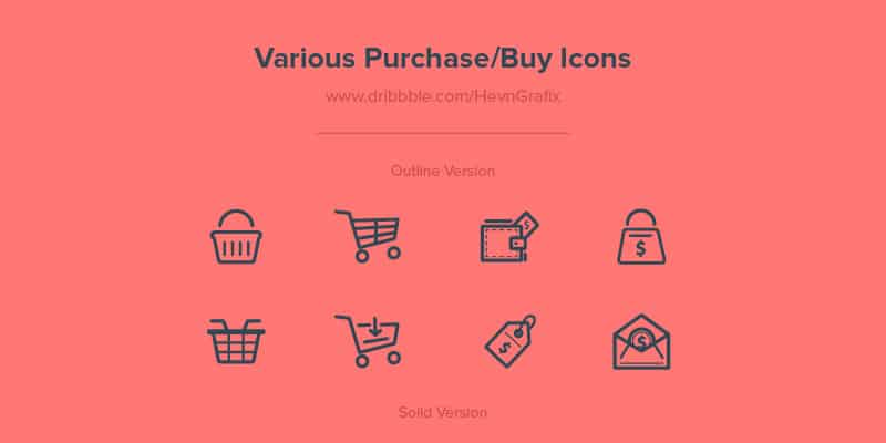 Free Various Purchase / Buy Icons