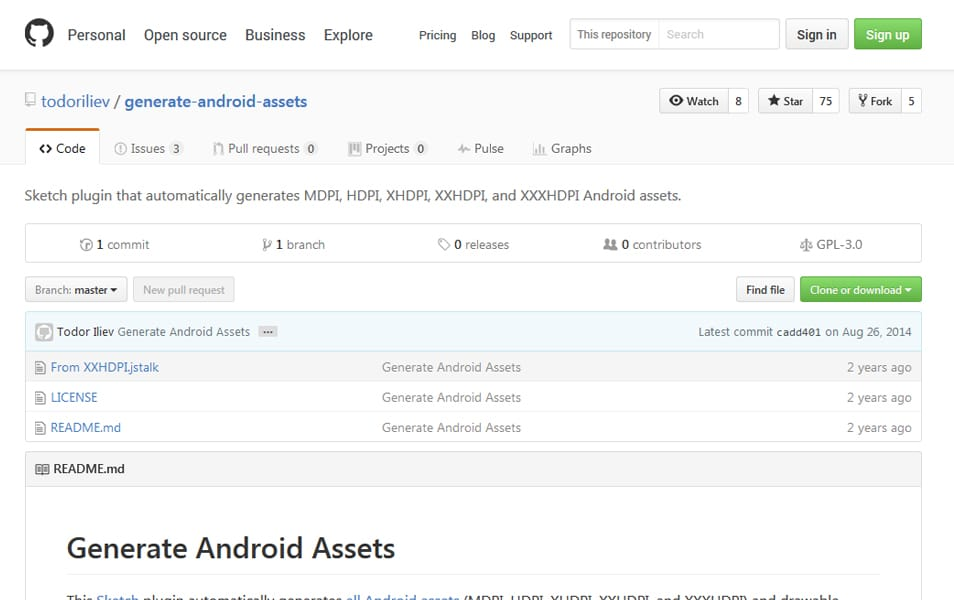 Generate Android Assets